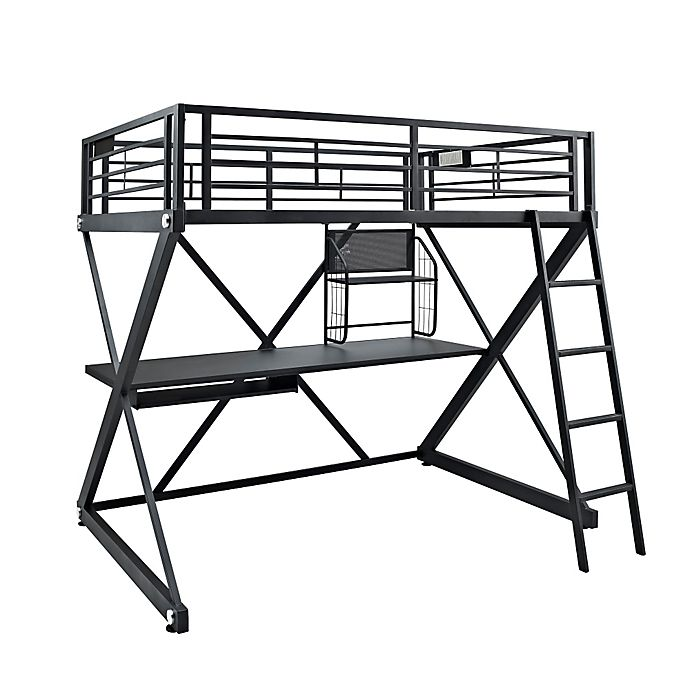 Alternate image 1 for Powell Z-Bedroom Full-Size Study Loft Bunk Bed