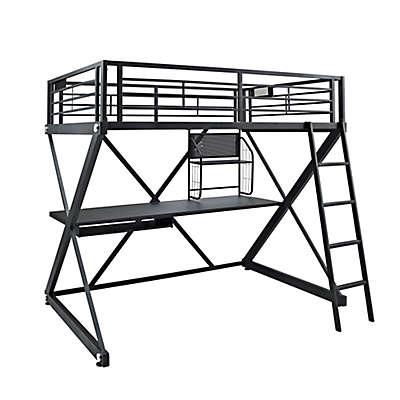 Powell Z-Bedroom Full-Size Study Loft Bunk Bed