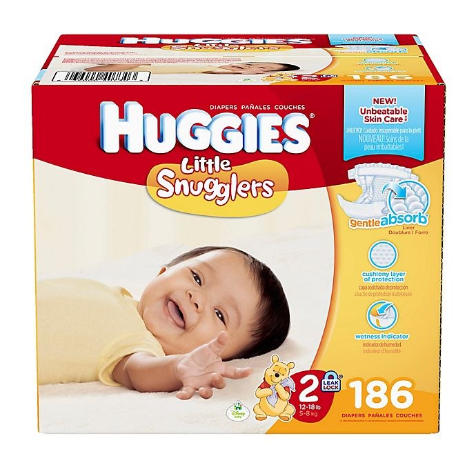 Alternate image 1 for Huggies® Little Snugglers 186-Count Size 2 Diapers