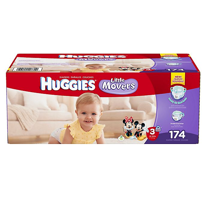 Alternate image 1 for Huggies® Little Movers Size 3 174-Count Disposable Diapers