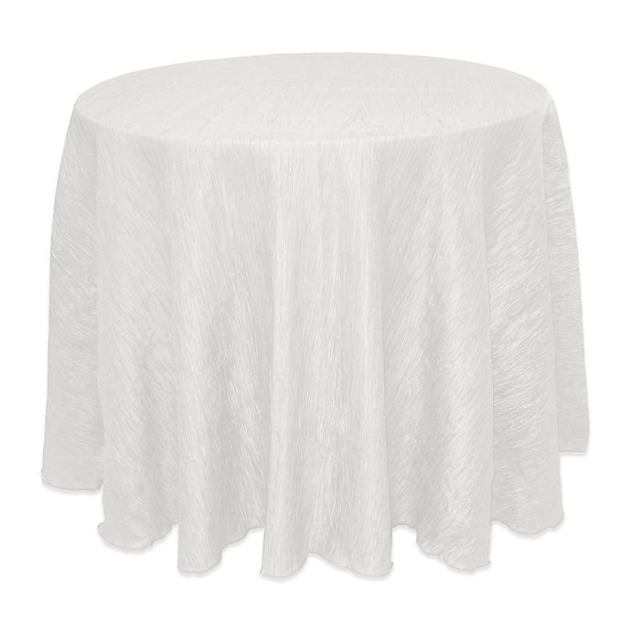 Alternate image 1 for Ultimate Textile Delano 72-Inch Round Tablecloth in White
