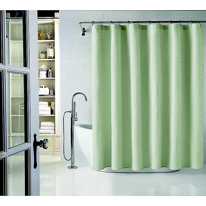 Alternate image 1 for Wamsutta® 72-Inch x 84-Inch Cotton Shower Curtain in Sage