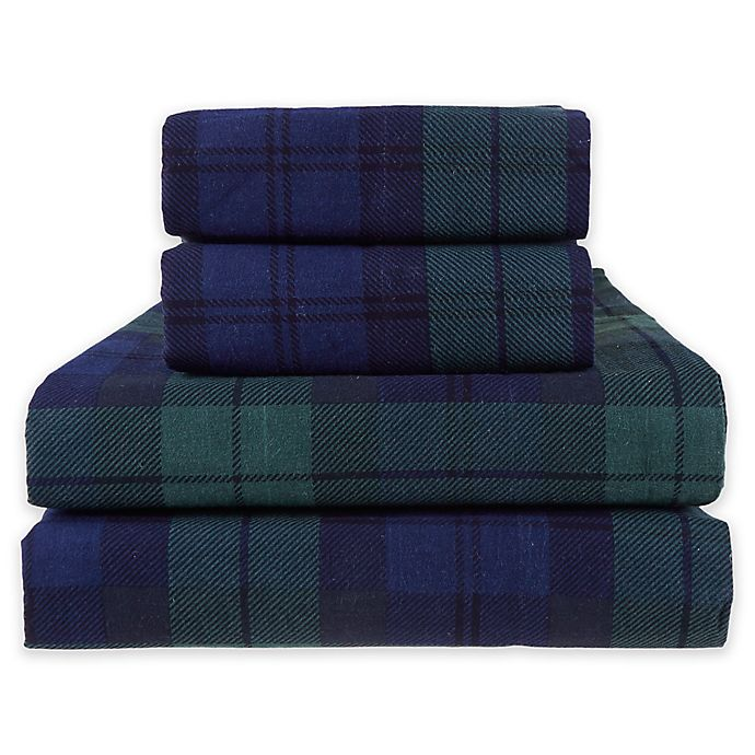 Bee Willow Home Blackwatch Flannel Sheet Set Bed Bath And Beyond Canada