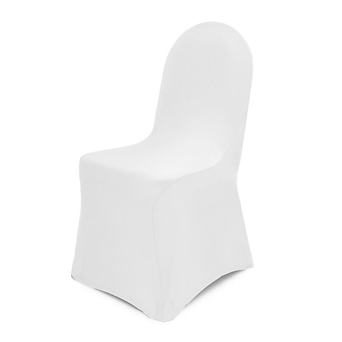 Alternate image 1 for Pizzazz Banquet Chair Cover in White