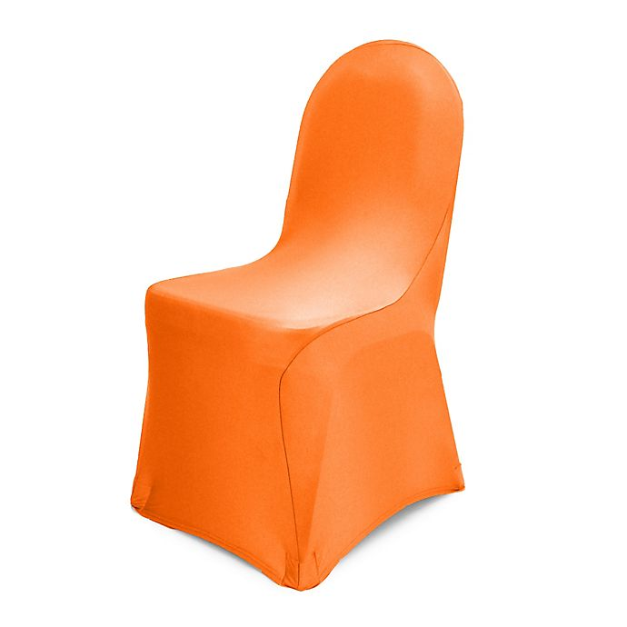 Alternate image 1 for Pizzazz Banquet Chair Cover in Neon Orange