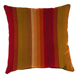 Stripe Outdoor 20-Inch Square Throw Pillows in Sunbrella® Astoria Sunset