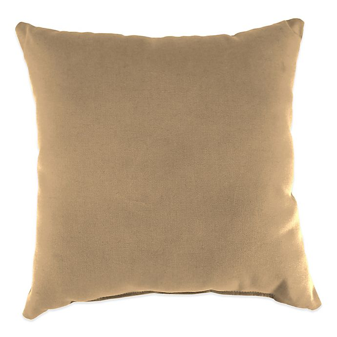 Alternate image 1 for 20-Inch Square Solid Throw Pillow in Sunbrella® Canvas Camel