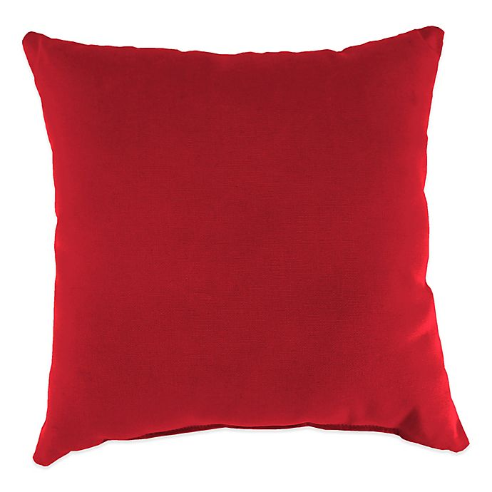 Alternate image 1 for 20-Inch Square Solid Throw Pillow in Sunbrella® Ruby Red