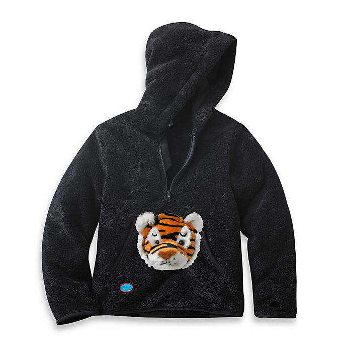 Alternate image 1 for HoOdiePet™ Clawie the Tiger Hoodie in Black