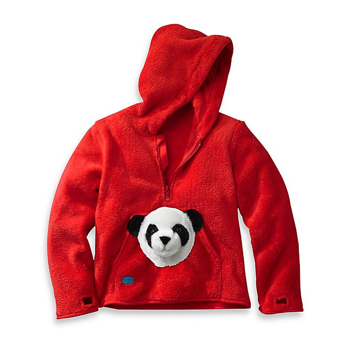 Alternate image 1 for HoOdiePet™ Bambooie the Panda Hoodie in Red
