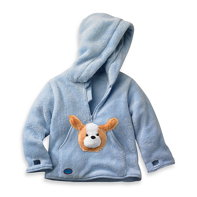 Alternate image 1 for HoOdiePet™ Barkie the Puppy Hoodie in Blue
