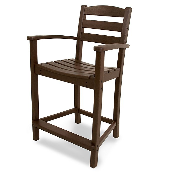 Buy Polywood 174 La Casa Counter Arm Chair In Mahogany From