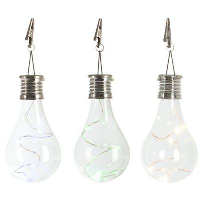 Solar Edison Light Bulb Umbrella Clip Light Bed Bath