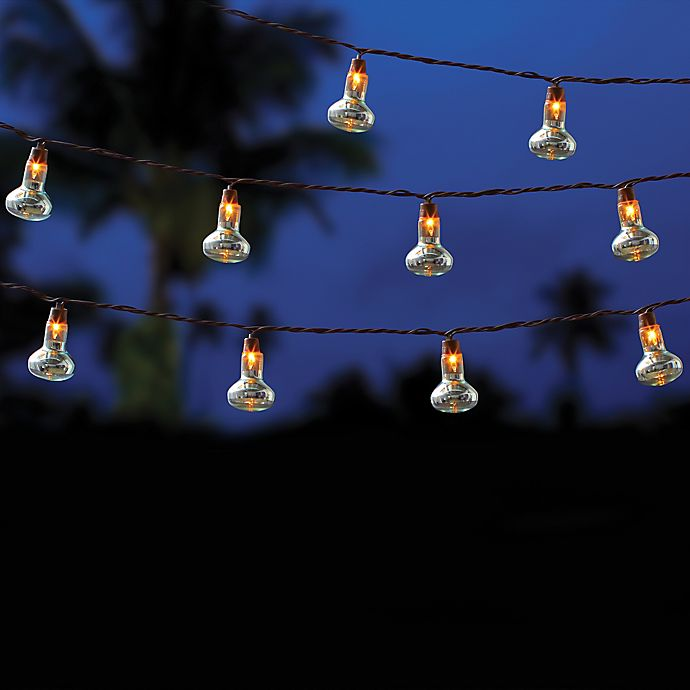 Outdoor 10 Bulb String Lights In Clear Bed Bath Amp Beyond