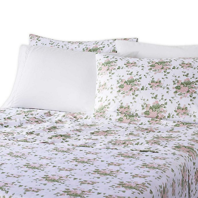 Alternate image 1 for Waverly® Microfiber 6-Piece Queen Sheet Set in Floral