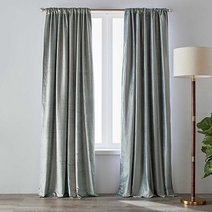 O By Olivia Oliver Velvet Rod, White Room Darkening Curtains Canada