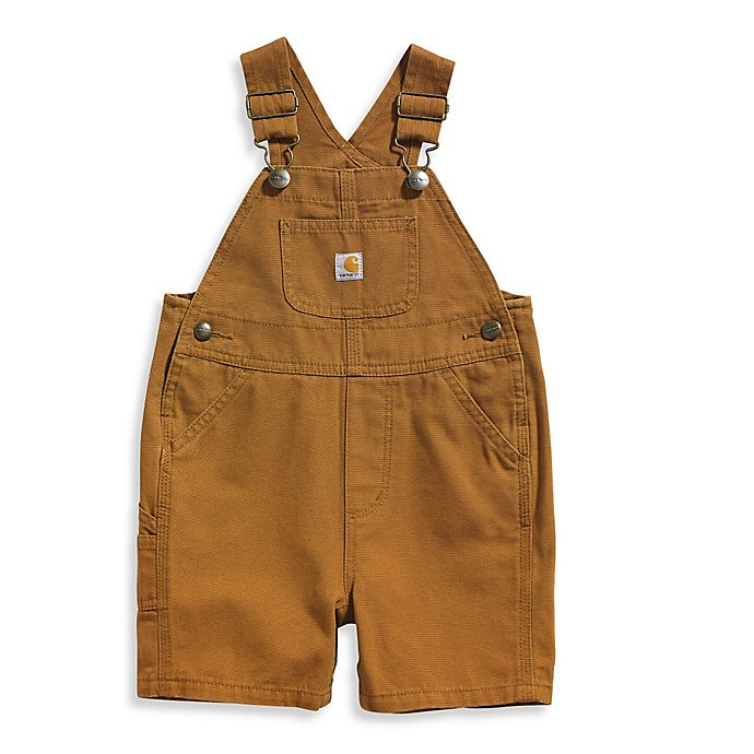 Alternate image 1 for Carhartt® Size 3M Canvas Bib Shortall in Brown