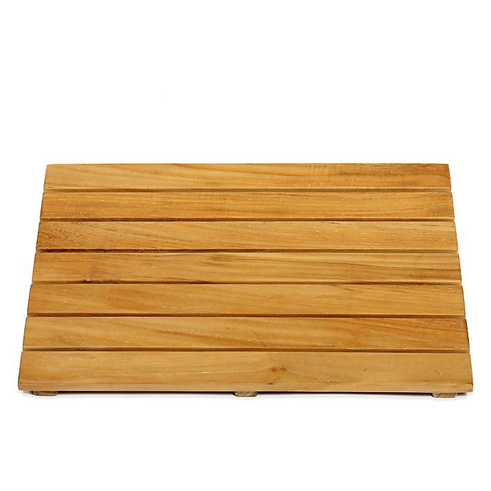 Alternate image 1 for ARB Teak & Specialties 20-Inch x 14-Inch Teak Wood Shower Mat