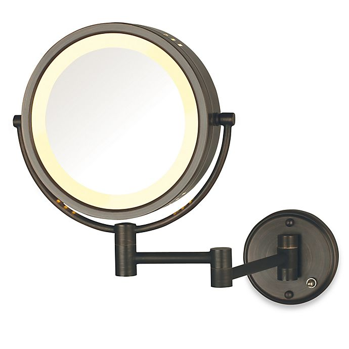 Alternate image 1 for Jerdon 8X/1X Lighted Direct Wire Wall Mount Mirror