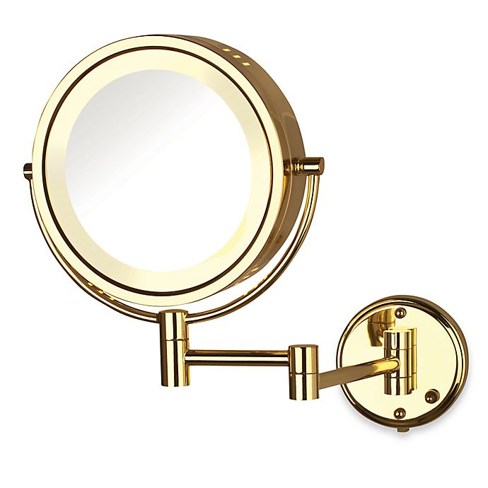Alternate image 1 for Jerdon 8X/1X Fog-Free Halo Lighted Wall Mount Mirror