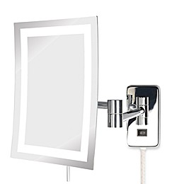 Jerdon 5X LED Rectangular Direct Wire Wall Mount Mirror
