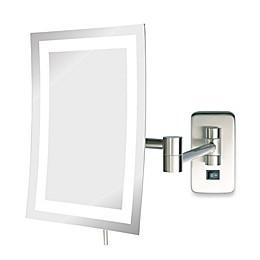 Jerdon 5X LED Rectangular Direct Wire Wall Mount Mirror
