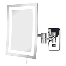 Jerdon 5X LED Rectangular Wall Mount Mirror