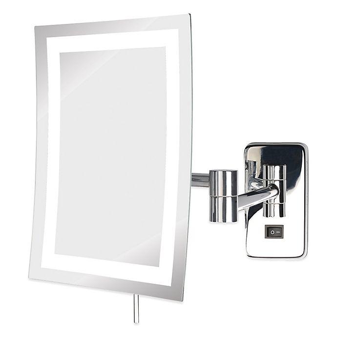 Alternate image 1 for Jerdon 5X LED Rectangular Wall Mount Mirror