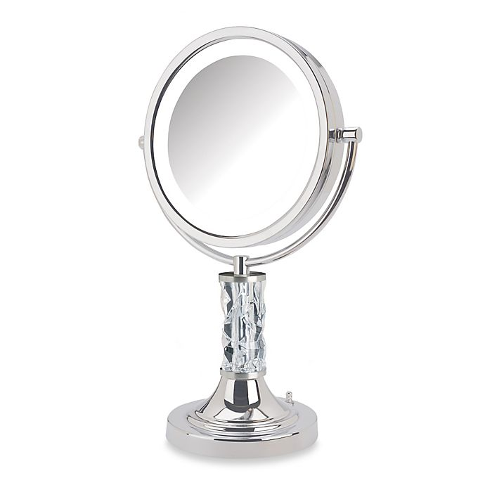 Jerdon 8x 1x Steuben Prism Led Lighted Vanity Mirror Bed
