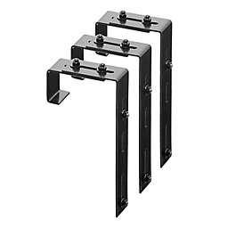 Mayne Adjustable Deck Rail Bracket in Black (Set of 3)