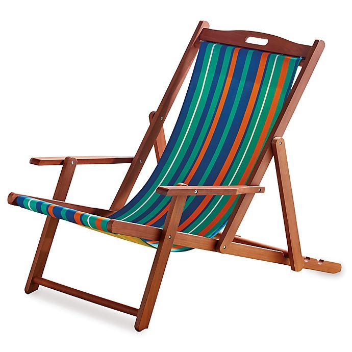 Brilliant Resort Striped Folding Wood Beach Chair Bed Bath Beyond Lamtechconsult Wood Chair Design Ideas Lamtechconsultcom