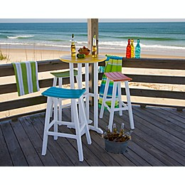 POLYWOOD® 4-Piece Outdoor Contempo Bar Set