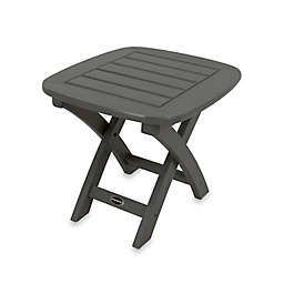 POLYWOOD® Nautical Outdoor Side Table in Slate Grey