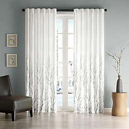 Madison Park Andora Rod Pocket/Back Tab Lined Window Curtain Panel and Valance