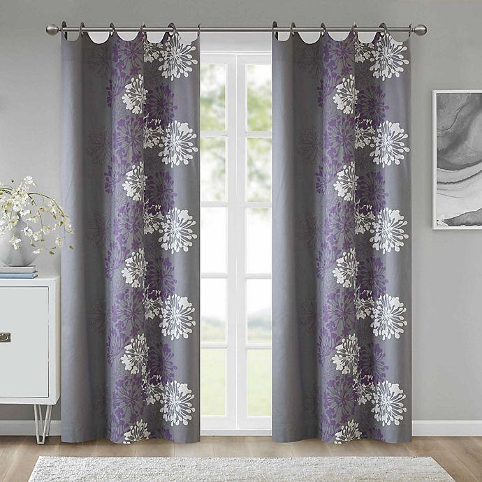 Alternate image 1 for Anya 84-Inch Grommet Window Curtain Panel in Purple/Grey