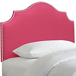 Skyline Furniture Nail Button Notched Headboard in Duck Pink