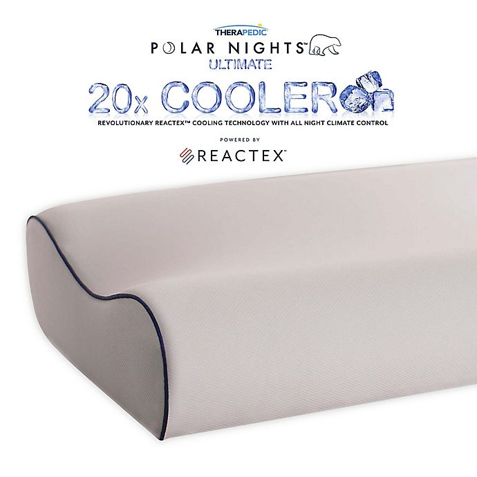Alternate image 1 for Therapedic® Polar Nights™ 20x Cooling Contour Memory Foam Bed Pillow