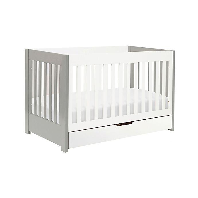 Alternate image 1 for Babyletto Mercer 3-in-1 Convertible Crib in Grey/White