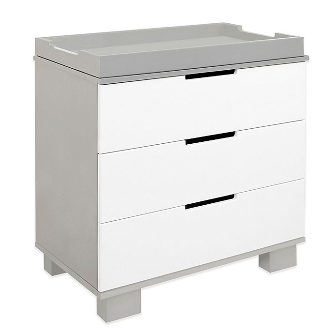 Alternate image 1 for Babyletto Modo 3-Drawer Changer Dresser in Grey/White