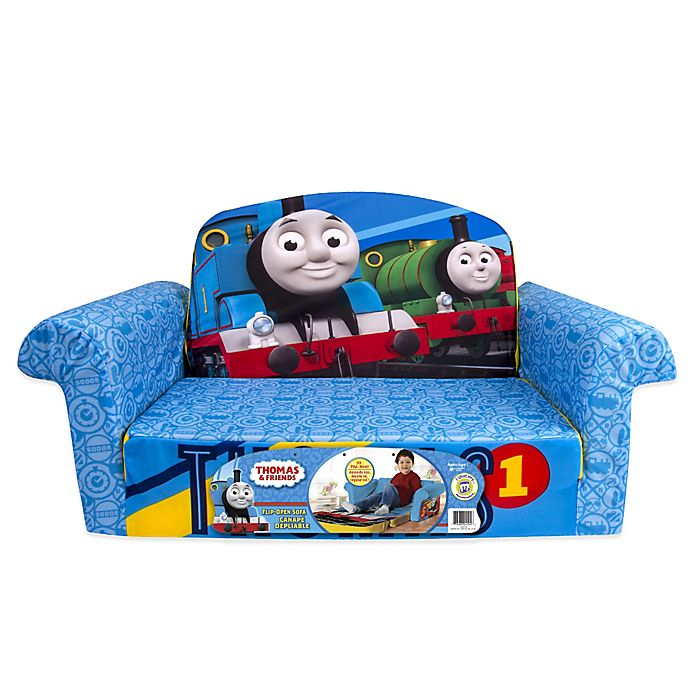 Alternate image 1 for Marshmallow Thomas and Friends 2-in-1 Flip Open Sofa