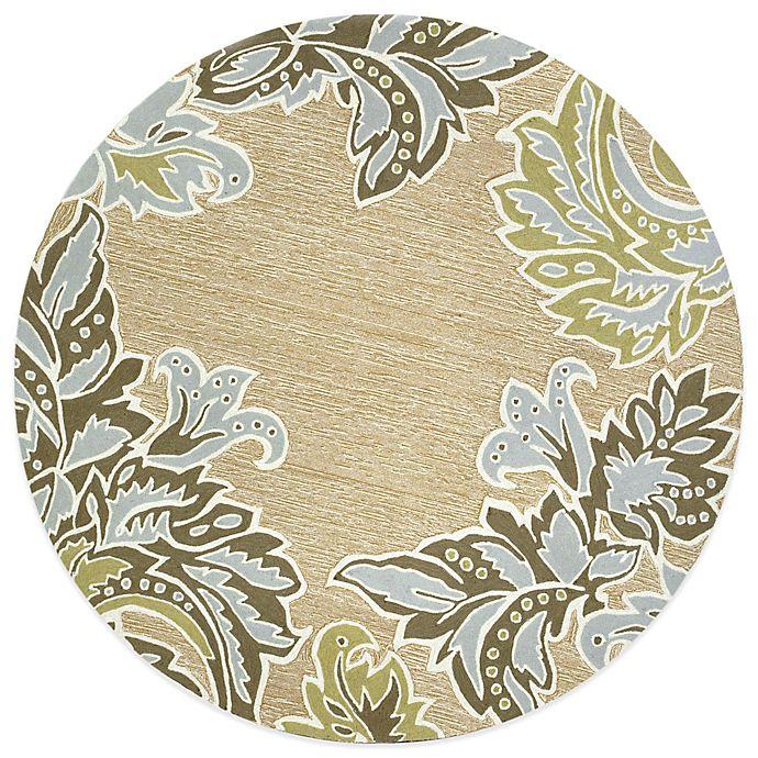 Alternate image 1 for Ornamental Leaf Border 8-Foot Round Rug