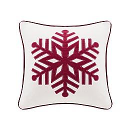 Velvet Snowflake Square Throw Pillow