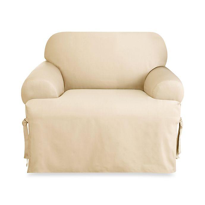 Logan 1 Piece T Cushion Chair Slipcover