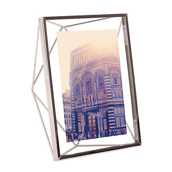 Alternate image 1 for Umbra® Prisma 5-Inch x 7-Inch Photo Frame in Chrome