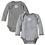 Burt's Bees Baby® Size 12M 2-Pack Organic Cotton Long-Sleeve Bodysuit in Heather Grey
