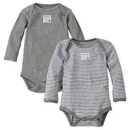 Burt's Bees Baby® 2-Pack Organic Cotton Long-Sleeve Bodysuit in Heather Grey
