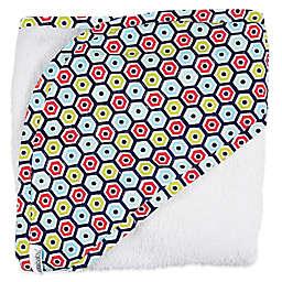 iotababy! 2-Piece Hooded Towel & Washcloth Set in Loverboy