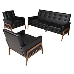 Baxton Studio® Matheo 3-Piece Living Room Set