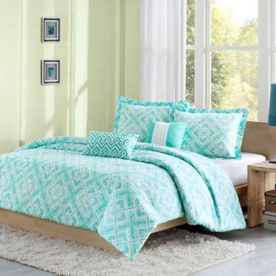 Laurent Reversible Comforter Set In Teal Bed Bath Beyond