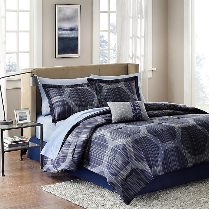 Alternate image 1 for Madison Park Rincon 9-Piece Full Comforter Set